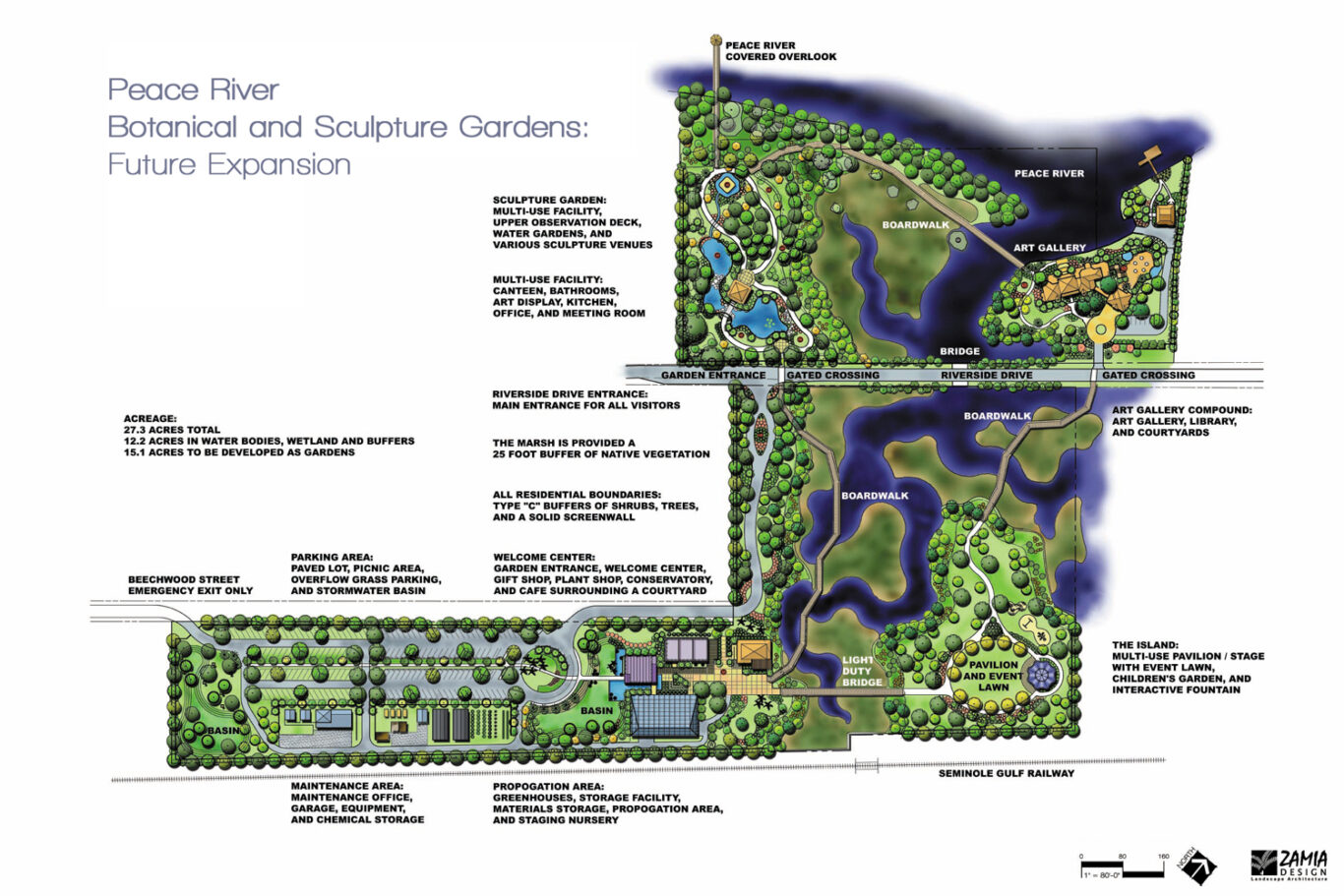 Peace River Botanical & Sculpture Gardens Master Plan