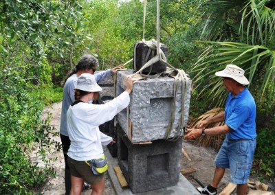 installation of sculpture Keel