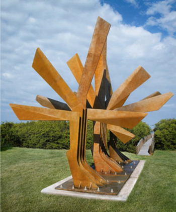 Sculpture: Steel Palm